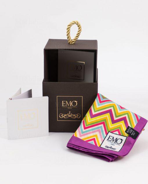 foulard con scatola e certificato autenticità art collection linea optical emò italia