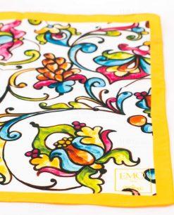 foulard giallo con fiori art collection linea costiera emò italia