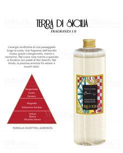 fragranza da 1 LT per diffusore linea maroc e roll fragranza terre di siclia baci milano