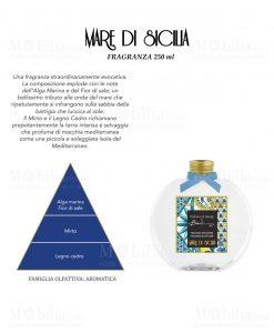 fragranza da 250 ml per diffusore linea maroc e roll fragranza mare di siclia baci milano
