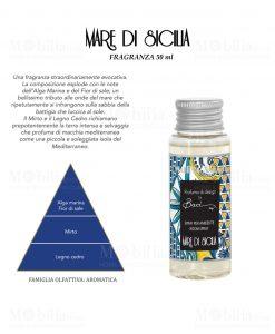 fragranza da 50 ml per diffusore linea maroc e roll fragranza mare di siclia baci milano