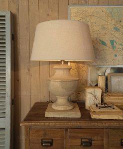 lampada da tavolo con paralume avorio orchidea milano