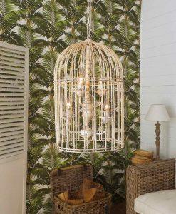lampadario a sospensione con gabbia modello palais royal orchidea milano