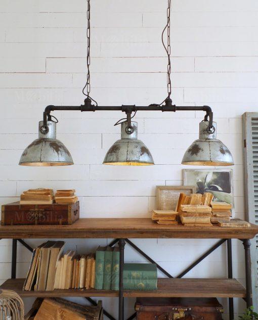 lampadario a sospensione con tre lampade modello industrial orchidea milano