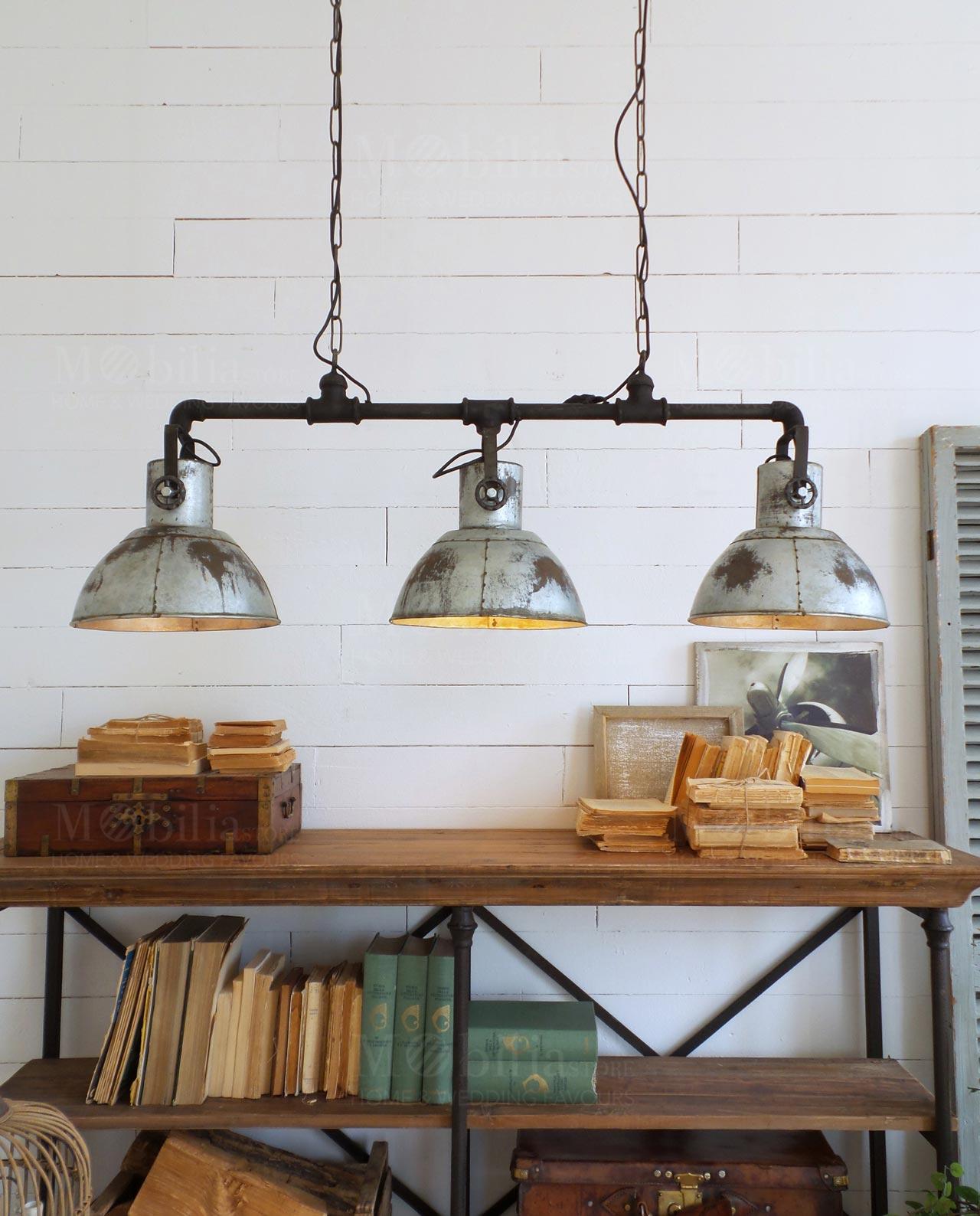 Lampadari Con Bottiglie Di Vetro lampadario a sospensione con 3 luci industrial