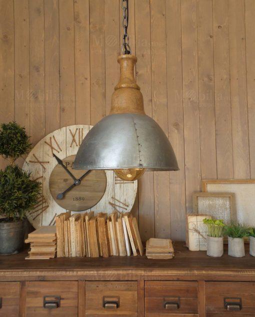 lampadario a sospensione metallo e legno modello cap dantibes orchidea milano