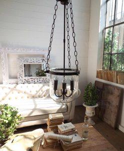 lampadario ferro e vetro vintage modello palais royal orchidea milano