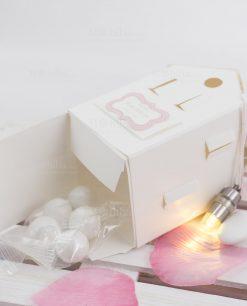 lanterna cartoncino con luce led e confetti blisterati linea blush rdm design