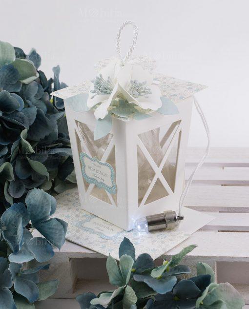 lanterna cartoncino con luce led portaconfetti linea sweet memory rdm design
