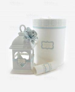 lanterna cuore con fiore porcellana capodimonte linea love rdm design