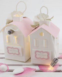 lanterne cartoncino le con tetto rosa linea blush rdm design