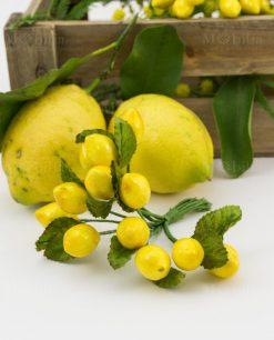 mazzolino limoni grande con foglie