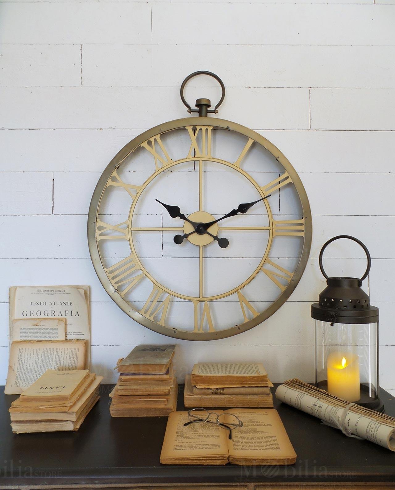 Orologio da parete industrial london look mobilia store for Mobilia recensioni