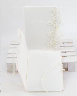 partecipazione nozze bianca con ricamo rdm deisgn linea forever