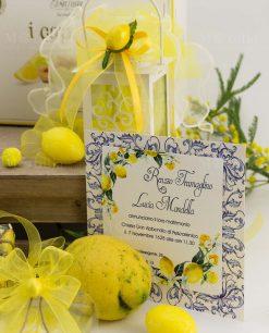 partecipazione nozze con limoni