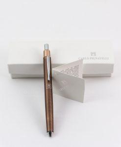 penna bronzo con scatola e certificato garanzia linea omero pignatelli