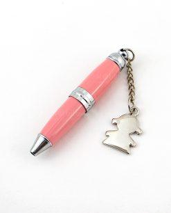 penna rosa ciondolo bimba