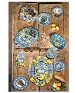 piatti taglieri e piatti da portata linea baroque and rock sicily blu baci milano