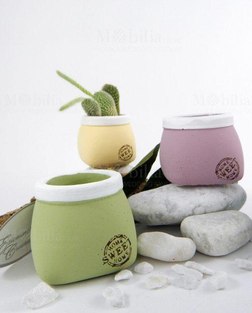 porta vaso ceramica grezza vari colori