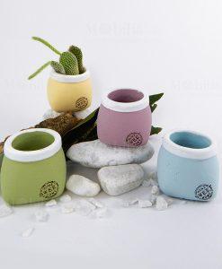 porta vaso grande ceramica grezza vari colori