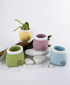 porta vaso medio ceramica grezza vari colori