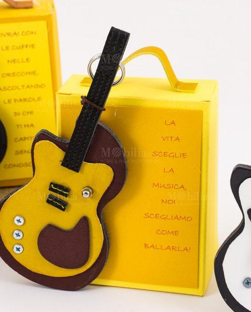 portachiave chitarra similpelle su shopper alta linea music rdm design