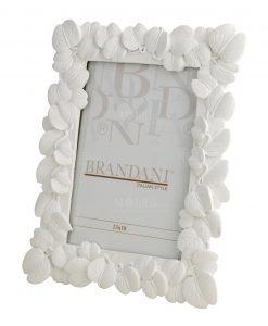 portafoto foglie grande bianco brandani
