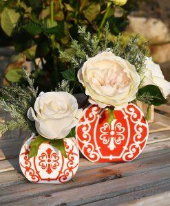 portapiante bianco e rosso varie misure con fiori linea sapori e profumi baci milano