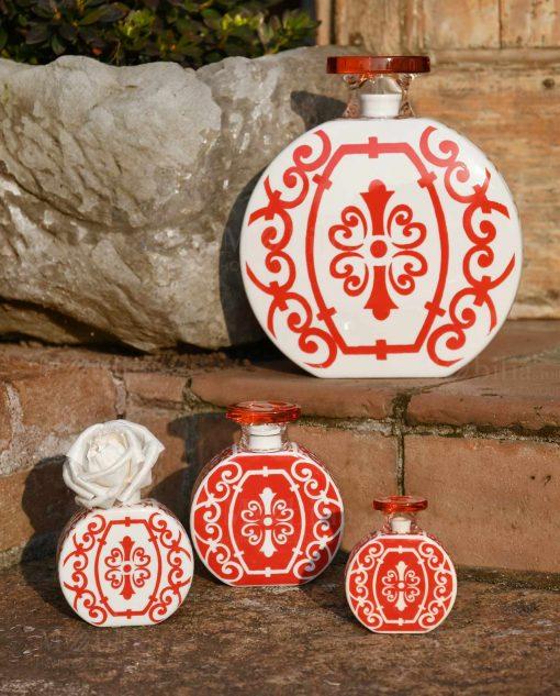 profumatore bianco e rosso varie misure linea sapori e profumi baci milano