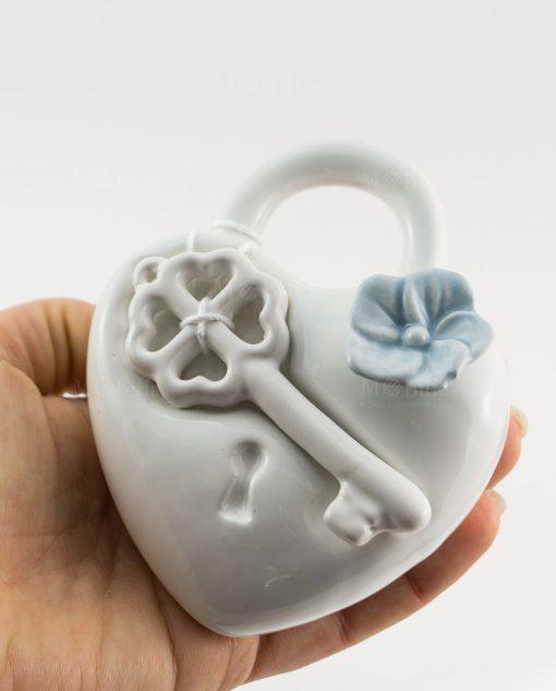 profumatore cuore con chiave e fiore rdm design