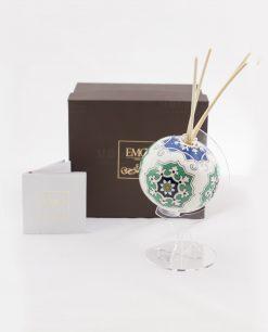 profumatore mappamondo medio con bastoncini art collectio con certificato autenticità con scatola linea azulejos emò