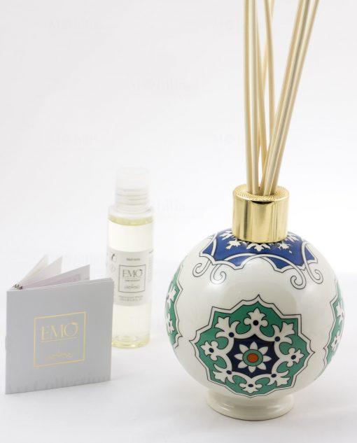 profumatore sfera grande con profumo art collection linea azulejos emò