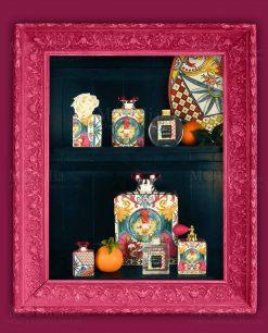 profumatori diffusori di fragranza con profumo con fiore linea baroque and rock sicily pink baci milano