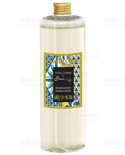 profumo 1 LT per diffusore linea maroc e roll fragranza mare di siclia baci milano