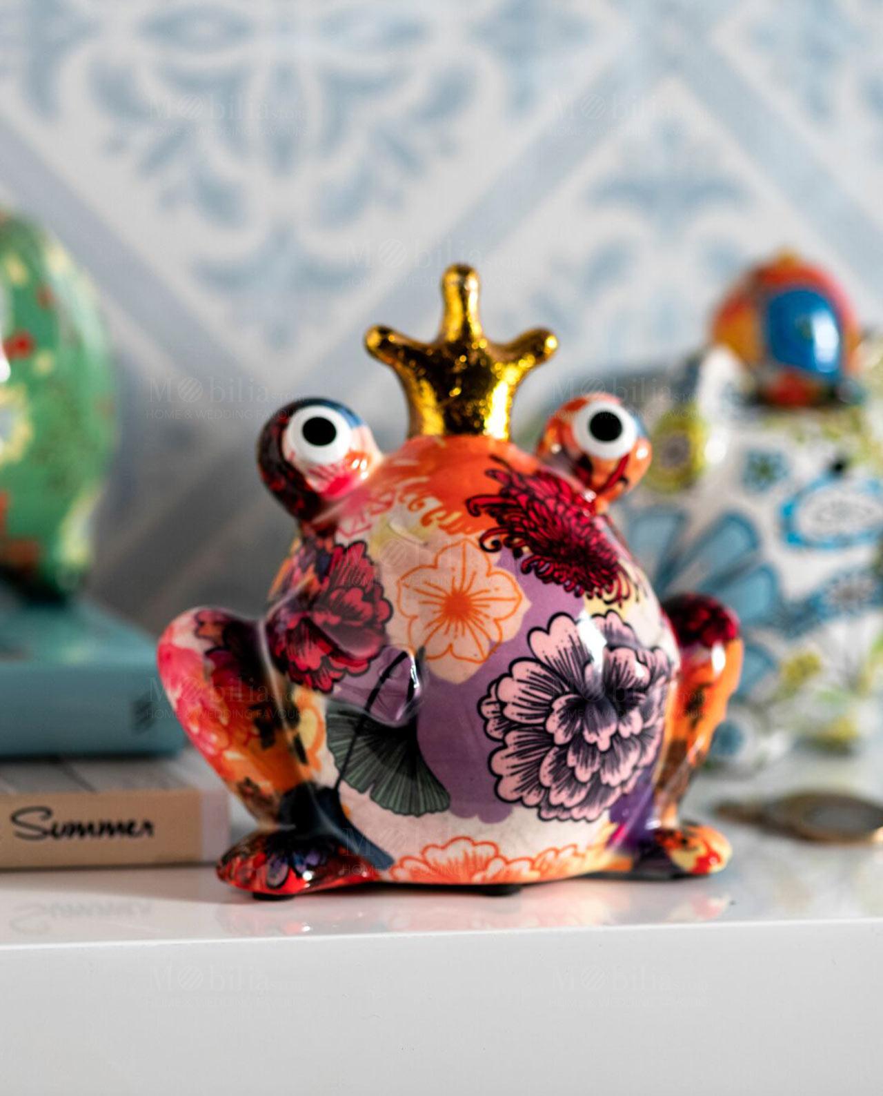salvadenaio rana con corona brandani