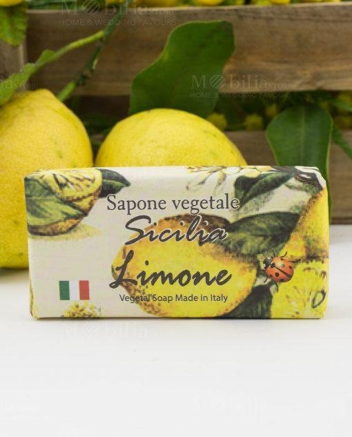 sapone vegetale limone sicilia con carta