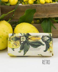 sapone vegetale limone sicilia con carta retro