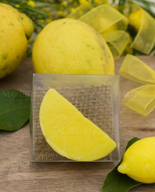 saponetta limone spicchio con scatola pvc