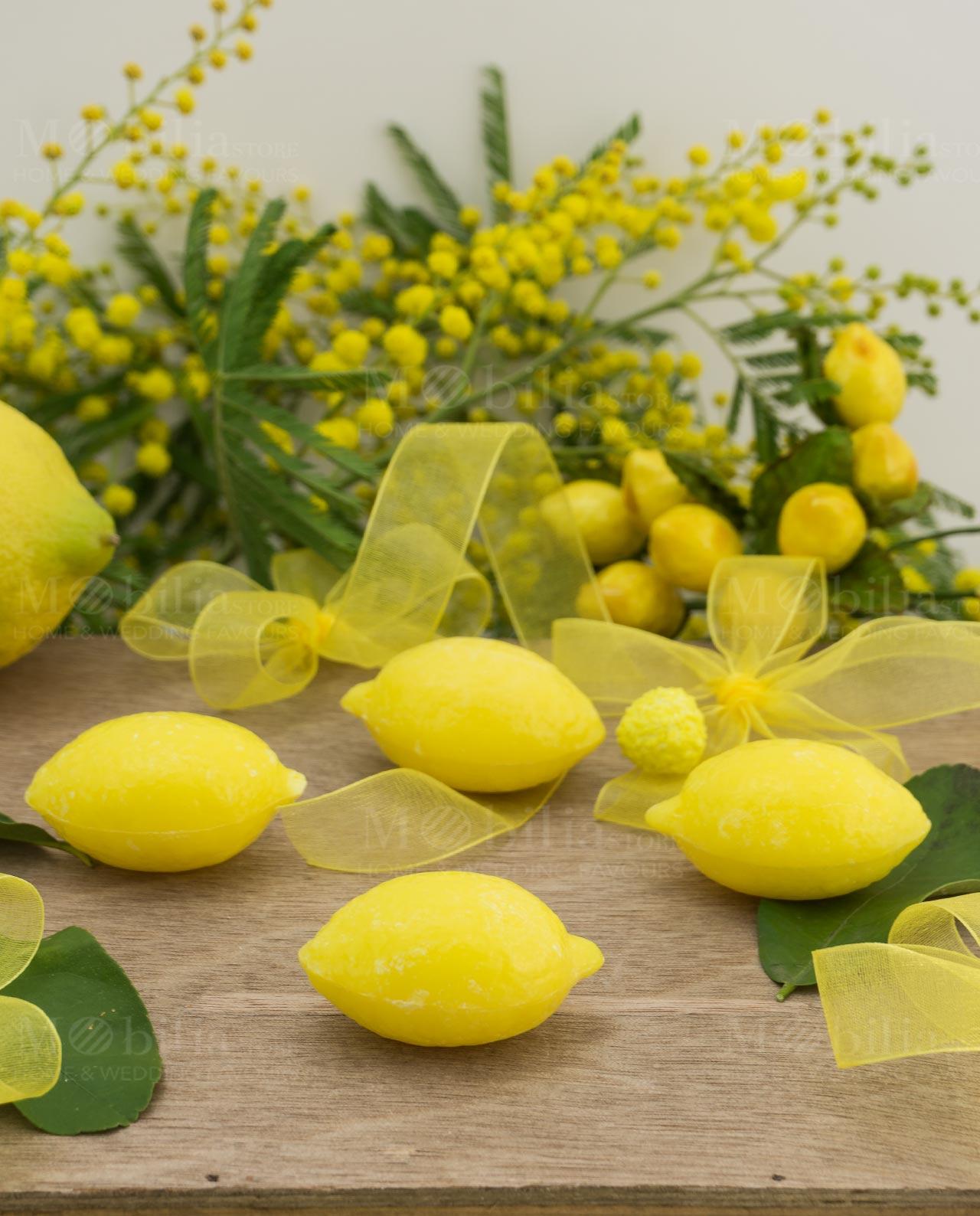 Segnaposto alzatina pvc con saponetta a forma di limone ...