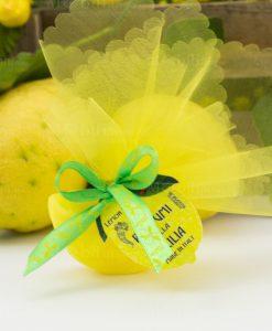 saponetta profumata spicchio giallo limone