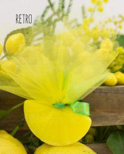 saponetta profumata spicchio giallo limone retro