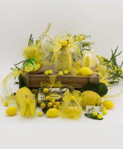 saponette gialle limone i profumi di sicilia scatola pvc barattolo vetro lanterna led