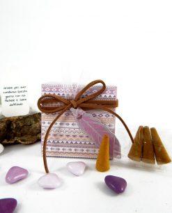 scatola portaconfetti con incensi disegni tribali