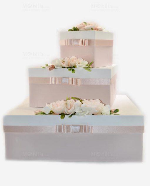 scatole portabomboniera e portaconfetti con rose linea forever rdm design