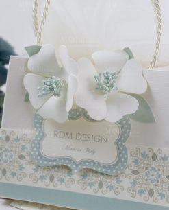 scatolina piccola portaconfetti a forma di busta con manici linea sweet memory rdm design