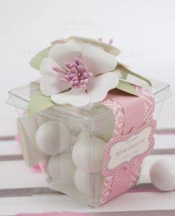 scatolina portaconfetti con fiori linea blush rdm design