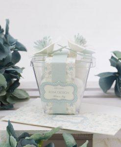 scatolina portaconfetti trasparente con fiori linea sweet memory rdm design