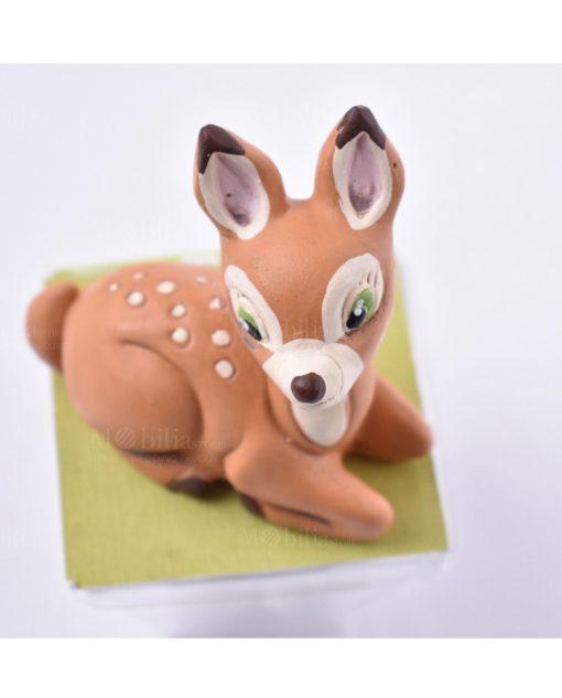 sculturina animaletti della foresta bambi su scatolina diamantino linea biancaneve e i sette nani rdm design