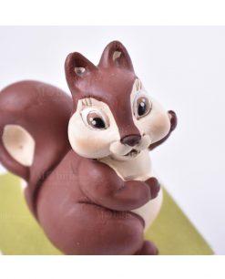 sculturina animaletti della foresta scoiattolo su scatolina diamantino linea biancaneve e i sette nani rdm design