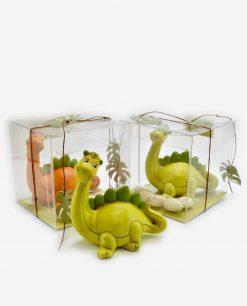 sculturina dinosauro con scatola pvc linea gli antenati rdm design